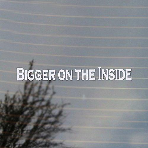 Fan Inside Vinyl (Bigger On The Inside Doctor Vinyl Decal (White))