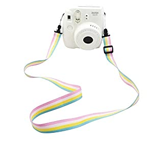 Katia Camera Accessories for Fujifilm Instax Mini 9 or Mini 8 Instant Film Camera- 8 in 1 Bundle. Fuji Case Ice Blue with Strap, Photo Album, Frame, Selfie Len, Filters, Stickes & more - Pink
