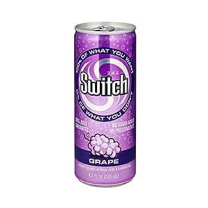 The Switch, Grape Sparkling Juice, 24/8.3 Oz