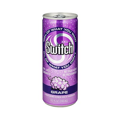 The Switch Sparkling Juice, Grape, Case of 24 - 8.3 Ounce Cans