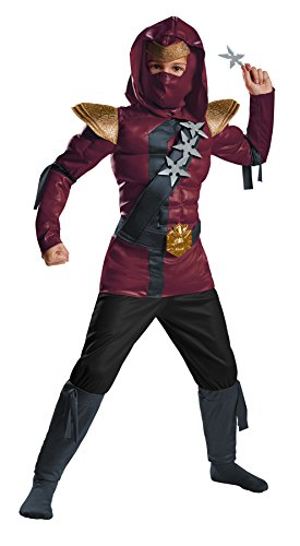 Crimson Ninja Classic Muscle Costume, Small/4-6