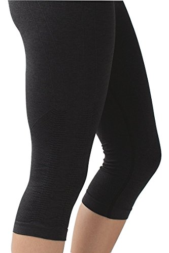 Lululemon In The Flow Crop Yoga Pants Heathered Black (6) by Lululemon