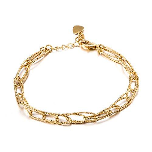 Bracelet plaqué or Bracelet en acier inoxydable unisexe en acier inoxydable Bobury