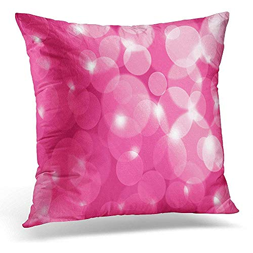 (Throw Pillow Covers Girly Pink Lens Flares Commercial Use Celebration Glow Decorative Pillow Case Home Decor Square 16x16 Inches Pillowcase )