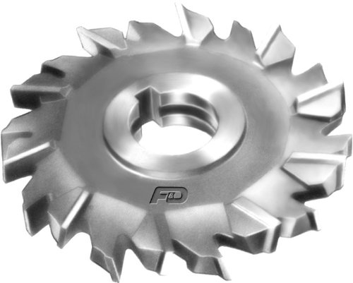 High Speed Steel 4.5 Diameter 1.25 Hole Size 1 Width of Face F/&D Tool Company 11157-A7473 Staggered Tooth Side Milling Cutter