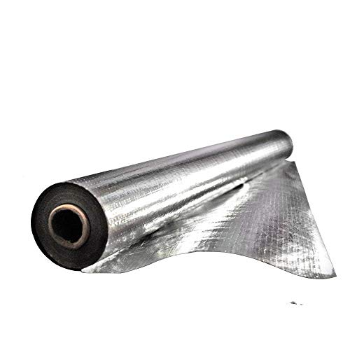 Earth Tack 312.5 sqft Radiant Barrier Insulation for Roof, Attic, Garage Goors, Windows, 5 ft. x 62.5 ft. Aluminum Foil Roll by Earth Tack