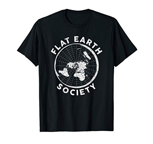 (Flat Earth Society T Shirt Conspiracy Theory Earther Gift)