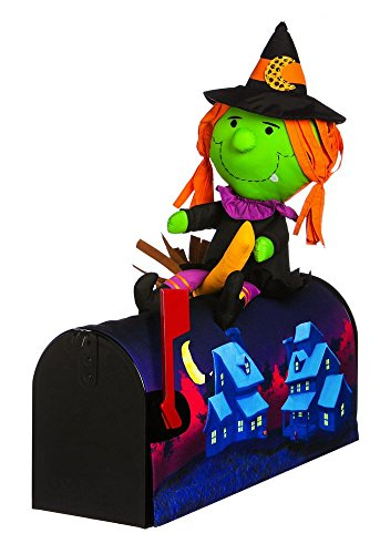 18'' Witch on the broom Magnetic Mailbox Cover by Evergreen Enterprises, Inc