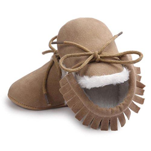 jungen weiche Schuhe warme Mädchen Khaki Winterstiefel Sohle Mode Jamicy® Winter nU1Od1