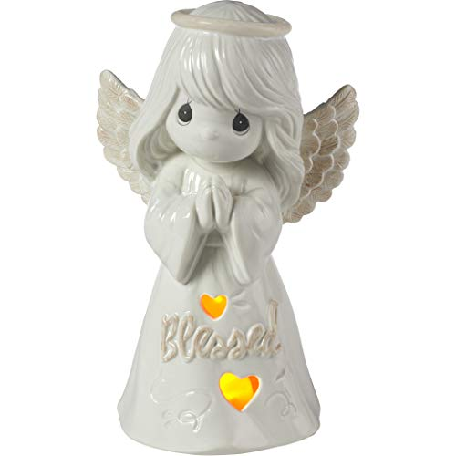 (Precious Moments Inspirational Kitchen and Décor Blessed LED Angel Porcelain 183417 Figurine One Size Multi)