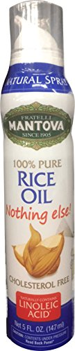 50% OFF Mantova 100% Rice Oil Spray 5 oz. Spray Bottle - Manage Oil Amount - Great For Salads & Cooking