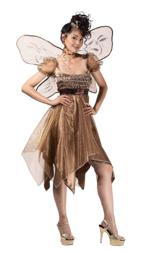 Paper Magic Metallic Copper Fairy Costume, Gold, (Metallic Copper Fairy Costume)