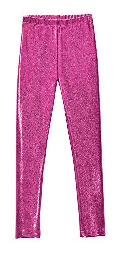 Pink Sparkly Leggings - City Threads Girls Leggings Metallic Mermaid