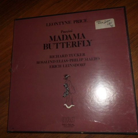 Madame Butterfly By Puccini with Leontyne Price (Rca LSC - 6160 Stereo) Red Seal 3 Record Set