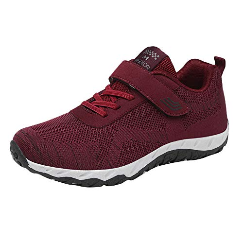 Womens Leisure Mesh Breathable Shoes Non-Slip Sport Shoes Flat Light Sneaker from VEZAD