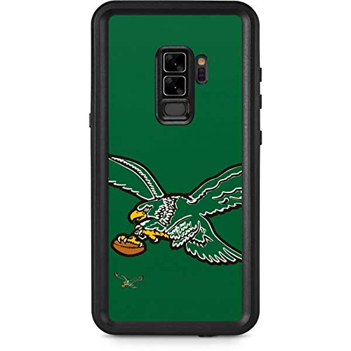 Skinit NFL Philadelphia Eagles Galaxy S9 Plus Waterproof Case - Philadelphia Eagles Retro Logo Design - Sweat-Proof, Snow-Proof, Dirt-Proof, Dust-Proof Phone Cover