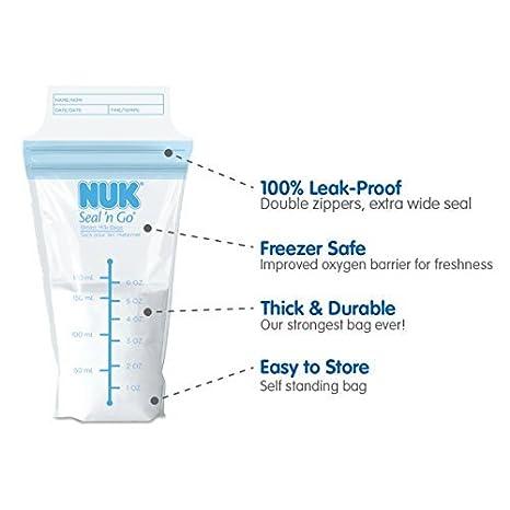 NUK Seal N Go bolsas de leche materna Talla:200 Count ...