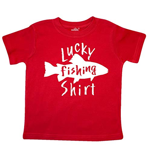inktastic - Lucky Fishing Shirt- Fish Toddler T-Shirt 3T Red 35952