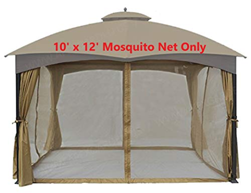 APEX GARDEN Universal 10' x 12' Gazebo Replacement Mosquito Netting (Mosquito Net Only) ()