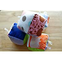 Infant Sensory Learning Cube Toy Without Rattle