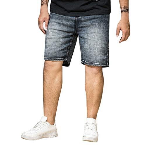 Men 's Short Jeans,Male Summer Casual Trouser Plus Size Elastic Hommes Shorts Skate Board Harem Fashion Jean