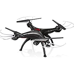 Cheerwing Syma X5SW-V3 FPV RC Quadcopter Drone with HD Wifi Camera (Black)