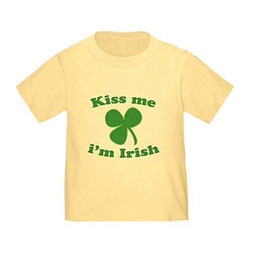 (CafePress Kiss Me Im Irish St Patricks Day T-Shirt Cute Toddler T-Shirt, 100% Cotton Daffodil Yellow)