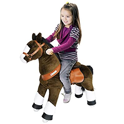 PonyCycle Pony Cycle Riding Horse Chocolate Brown with White Hoof- Med. Riding Horse: Toys & Games