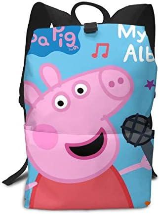 サックリュックpeppa Pig子豚のペッキー ペパ豚 (3) バックパック 防水人気 バックパック ビジネス リュックメンズ レディース 旅行バッグ 多機能 人気 りプレゼント 子供 通用 通学 かばんバ