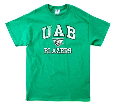 NCAA Alabama Birmingham Blazers 100-Percent Pre-Shrunk Vintage Mascot Short Sleeve Tee, X-Large, Forest