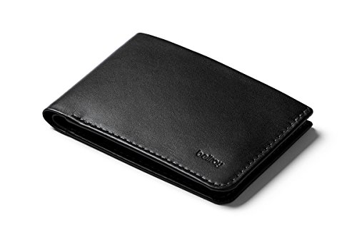 Bellroy Low Wallet, slim leather wallet (Max. 12 cards and flat bills) Black