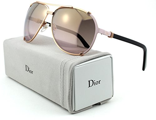 Christian Dior Chicago 2/S Metal Woman Aviator Sunglasses (Gold Pink Soft Black Frame, Gold Gradient Pink Lens - Sunglasses Dior Ladies