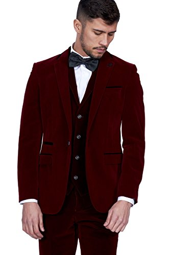 Marc Darcy - Costume - Costume - Homme rouge bordeaux Auditor's Target Value