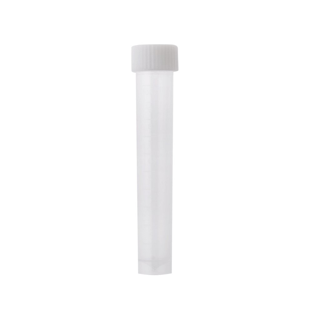 MagiDeal 10ml Plastic Graduated Cryovial Test Tube Sample with Screw Cap Pack of 5 STK0151005987