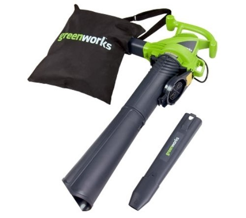 Greenworks 2 Speed 230 MPH Electric Leaf Blower Vacuum 24022