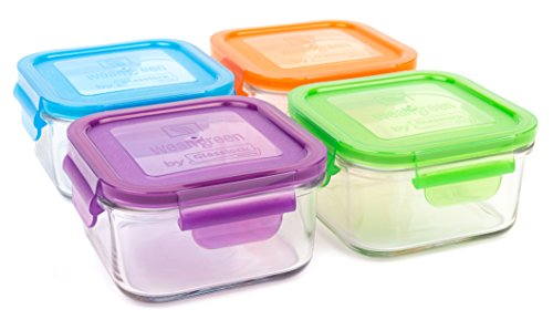 small glass square containers - 2