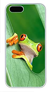 iPhone 5 5S Case Tree Frog PC Custom iPhone 5 5S Case Cover White
