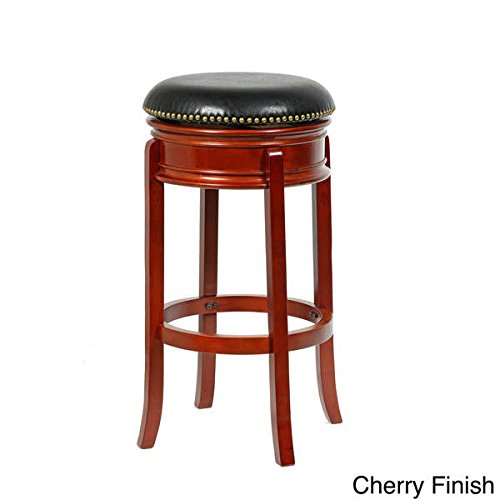 Martin Tools MINTRA Bristol Swivel Bi-Cast Leather Counter Stool, 24-Inch, - Bicast Bar Stool Leather