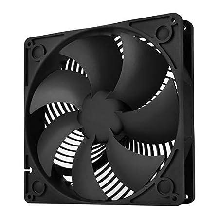 Baja sonoridad SilverStone SST-AP122 negro Bajo consumo energ/ético Ventilador de 120mm para ordenador Air Penetrator con 9 aspas Alto flujo de aire
