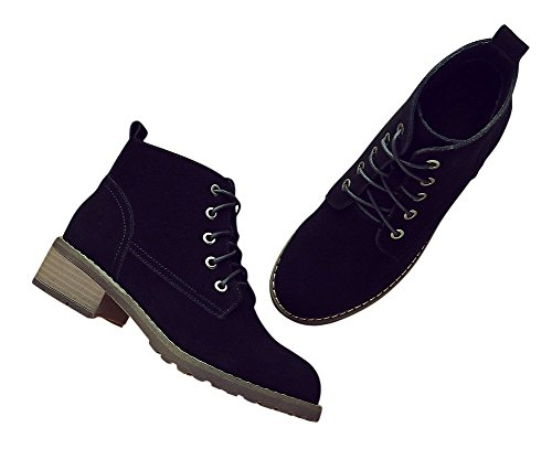 Stacked Adult Teenager 1bacha Chukka Heel Black Suede Unisex Boot Tortor Shoes IZ7SxwqRw