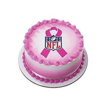 Amazoncom NFL Breast Cancer Pink Ribbon Edible Image Cake