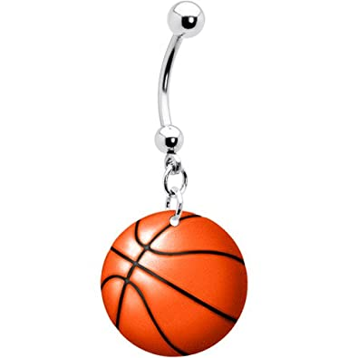 Amazon Com Body Candy Unisex Adult Basketball Belly Button Ring
