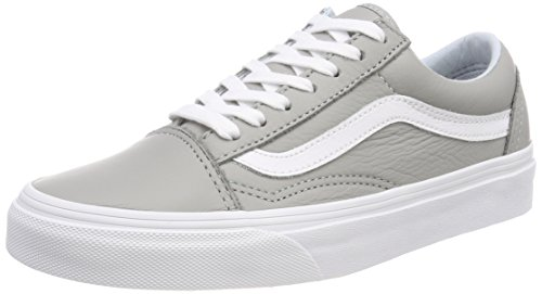 Skool Trainers Leather Unisex Qd5 Oxford Old Vans Drizzle Grey Adults' fItZqdw1