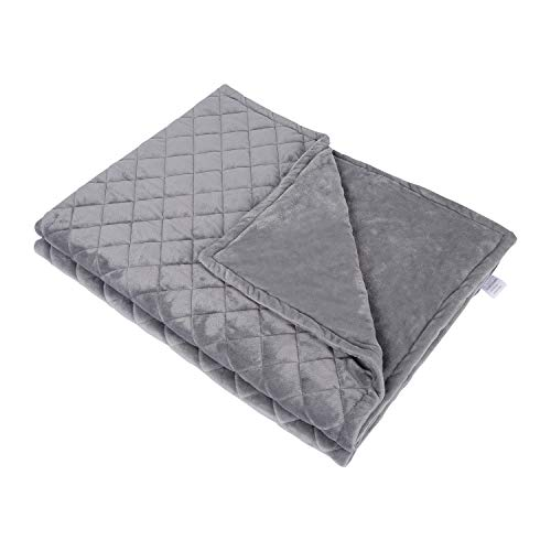 Cheap LINONON Removable Duvet Cover for Weighted Blanket Twin/Full Size Soft Minky Weighted Blanket Cover Reversible Zippered Bed Blanket Cover (Weighted Blanket Cover 60 x 80 ) Black Friday & Cyber Monday 2019