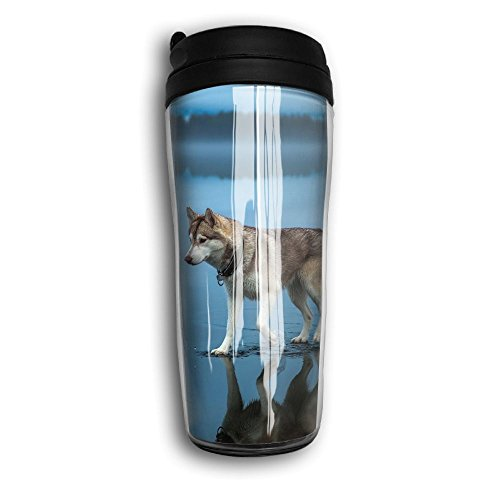 - Reusable Coffee Mug, Cute Husky Milk Tea Drinking Water Bottle Coffee Mug Carry Hand Cup Reusable Plastic Curve Travel Mug Coffee Tumbler For Women Men Kids Teens Adults