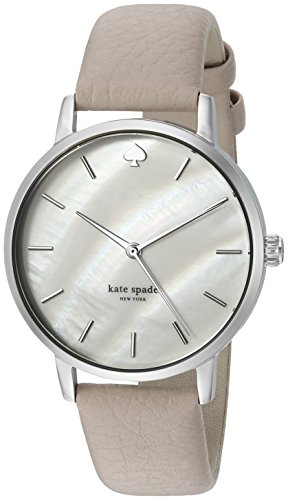 kate spade new york Women's 'Metro' Quartz Stainless Steel and Leather Casual Watch, Color:Grey (Model: KSW1141) by Kate Spade New York