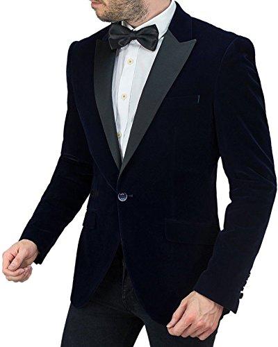 Velvet Manga Larga Blue hombre para Blazer Cavani qXpn6WPX