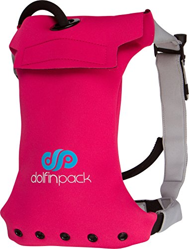 DolfinPack Lightweight, Form-Fitting, Waterproof, Extreme Sports Hydration Pack, Pink/Grey, One Size