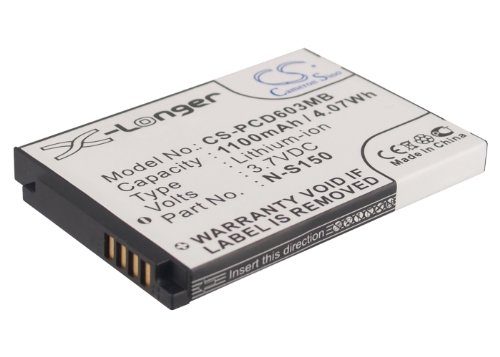 Cameron Sino 1100mAh/4.07wh batterie de remplacement pour Philips Scd-603/00 CS-PCD603MB_0001