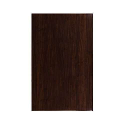Flash Furniture 30'' x 48'' High-Gloss Walnut Resin Table Top with 2'' Thick Drop-Lip by Flash Furniture (Image #1)